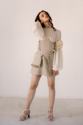 Сукня корсаж тілесного кольору в прокат и oренду в Киiвi. Фото 2