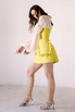 Платье-корсаж лаймового цвета в прокат и аренду в Киеве. Фото 5