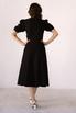 Черное платье из льна с рукавом буф в прокат и аренду в Киеве. Фото 4