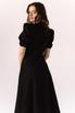 Черное платье из льна с рукавом буф в прокат и аренду в Киеве. Фото 5