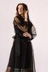 Черное комбинированное платье из органзы расшитое бисером в прокат и аренду в Киеве. Фото 2