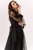 Черное комбинированное платье из органзы расшитое бисером в прокат и аренду в Киеве. Фото 4