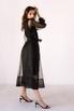 Черное комбинированное платье из органзы расшитое бисером в прокат и аренду в Киеве. Фото 5