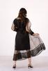 Черное комбинированное платье из органзы расшитое бисером в прокат и аренду в Киеве. Фото 6