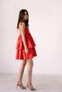 Красное платье мини из плотного хлопка свободного кроя в прокат и аренду в Киеве. Фото 4