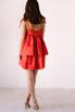 Красное платье мини из плотного хлопка свободного кроя в прокат и аренду в Киеве. Фото 5