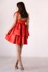 Красное платье мини из плотного хлопка свободного кроя в прокат и аренду в Киеве. Фото 6