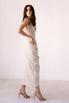 Бежевое платье миди с оборкой сбоку из тенсела в прокат и аренду в Киеве. Фото 5