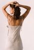 Бежевое платье миди с оборкой сбоку из тенсела в прокат и аренду в Киеве. Фото 8