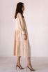 Бежевое свободное платье из тенсела в прокат и аренду в Киеве. Фото 4
