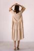 Бежевое свободное платье из тенсела в прокат и аренду в Киеве. Фото 5