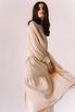 Бежевое свободное платье из тенсела в прокат и аренду в Киеве. Фото 7