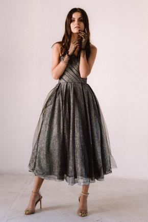 Графітова сукня-бюст'є міді в прокат и oренду в Киiвi. Фото 2