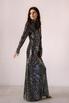 Блестящее платье цвета мокрый асфальт с открытой спиной в прокат и аренду в Киеве. Фото 5
