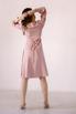 Розовое платье миди с треугольным вырезом в прокат и аренду в Киеве. Фото 6