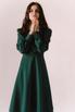Темно-зеленое платье миди в прокат и аренду в Киеве. Фото 4