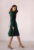 Темно-зеленое платье миди в прокат и аренду в Киеве. Фото 6