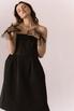 Платье-бюстье длины миди черного цвета в прокат и аренду в Киеве. Фото 1