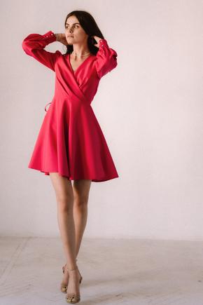 Малинова сукня з трикутним вирізом в прокат и oренду в Киiвi. Фото 2