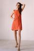 Оранжевое платье мини расшитое камнями в прокат и аренду в Киеве. Фото 2