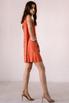 Оранжевое платье мини расшитое камнями в прокат и аренду в Киеве. Фото 4