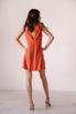 Оранжевое платье мини расшитое камнями в прокат и аренду в Киеве. Фото 5