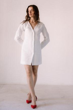 Біле плаття піджак з твіду довжини міні в прокат и oренду в Киiвi. Фото 2