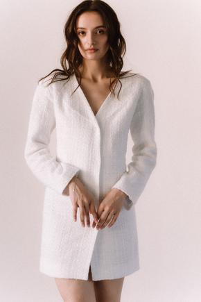 Біле плаття піджак з твіду довжини міні в прокат и oренду в Киiвi. Фото 1