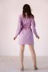 Ярко-розовое платье пиджак с поясом в прокат и аренду в Киеве. Фото 5