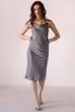Серое платье комбинация из вискозы с открытой спиной в прокат и аренду в Киеве. Фото 1