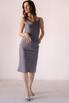 Серое платье комбинация из вискозы с открытой спиной в прокат и аренду в Киеве. Фото 2