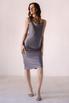 Серое платье комбинация из вискозы с открытой спиной в прокат и аренду в Киеве. Фото 4