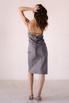 Серое платье комбинация из вискозы с открытой спиной в прокат и аренду в Киеве. Фото 8