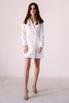 Белое платье-пиджак с поясом и длинным рукавом в прокат и аренду в Киеве. Фото 3
