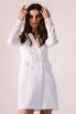 Белое платье-пиджак с поясом и длинным рукавом в прокат и аренду в Киеве. Фото 4