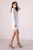 Белое платье-пиджак с поясом и длинным рукавом в прокат и аренду в Киеве. Фото 5
