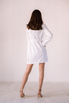 Белое платье-пиджак с поясом и длинным рукавом в прокат и аренду в Киеве. Фото 6