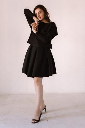 Чорний костюм спідниця і плісирована спідниця міні в прокат и oренду в Киiвi. Фото 2