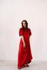 Красное шелковое платье с рукавами буф в прокат и аренду в Киеве. Фото 4