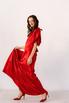 Красное шелковое платье с рукавами буф в прокат и аренду в Киеве. Фото 6