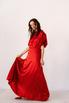 Красное шелковое платье с рукавами буф в прокат и аренду в Киеве. Фото 7