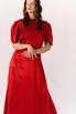 Красное шелковое платье с рукавами буф в прокат и аренду в Киеве. Фото 8