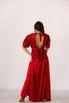 Красное шелковое платье с рукавами буф в прокат и аренду в Киеве. Фото 9