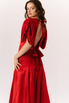 Красное шелковое платье с рукавами буф в прокат и аренду в Киеве. Фото 10