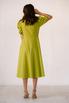 Лаймовое платье из льна с рукавом буф в прокат и аренду в Киеве. Фото 6