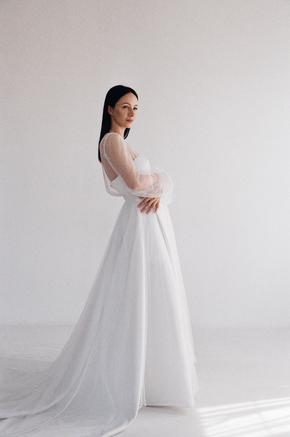 Прозоре плаття з білого мережива в будуарний стилі в прокат и oренду в Киiвi. Фото 2