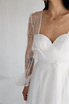 Прозрачное платье из белого кружева в будуарном стиле в прокат и аренду в Киеве. Фото 3