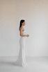 Длинное платье бюстье молочного цвета с шелковым лифом в прокат и аренду в Киеве. Фото 3