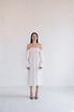 Шелковое белое платье с рукавом буф и драпировками в прокат и аренду в Киеве. Фото 3
