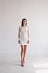 Белое короткое платье с рукавами из тюля в прокат и аренду в Киеве. Фото 1